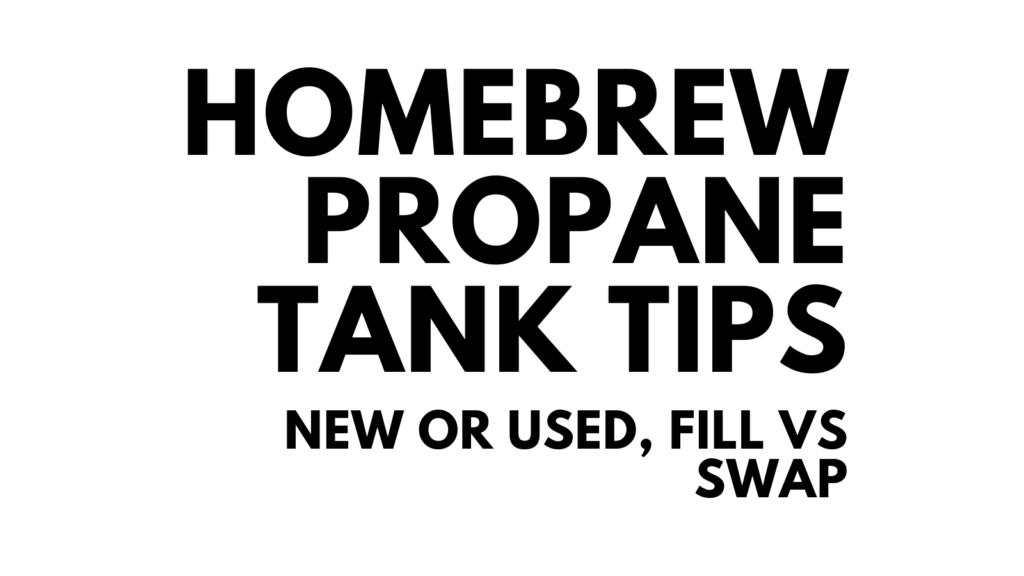 propane tank tips