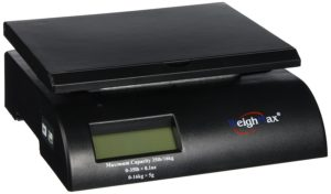 Weighmax Digital Postal Scale, Black (W-2822-35-BLK)