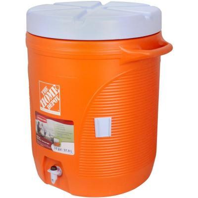 10 gal. Orange Water Cooler