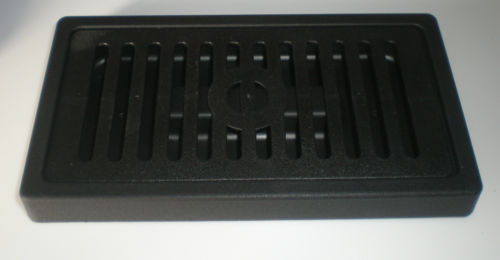 "drip tray, 7.5"" x 4"" x 0.75"", two piece, polymer, black, 5002538"