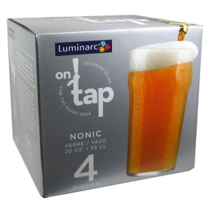 Luminarc on Tap 4-Piece Nonic Lager, 20-Ounce