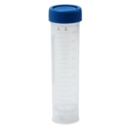 Centrifuge Tubes, 50ml, 30x115mm, Blue Cap, Skirted, No-Leak, Karter Scientific 208J2 (Pack of 50)