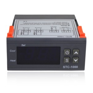 Elitech 110V All-Purpose Temperature Controller+ Sensor 2 Relay Output Thermostat Stc-1000