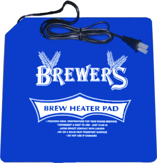 Heat Pad for Beer and Wine Making homebrewing.lorg