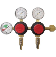 CO2 Regulator - Dual Body - Three Gauge D1065