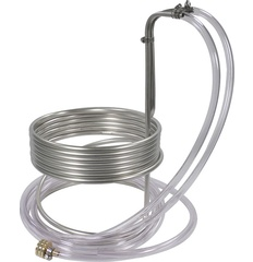 Stainless Steel Wort Chiller (25' x 3/8 in With Tubing) WC111