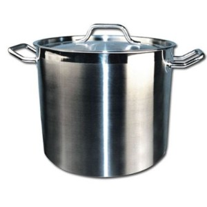Winware Stainless Steel 60 Quart Stock Pot with Cover Home Brewing