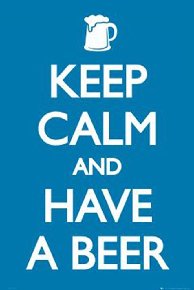 GB Eye Keep Calm Beer Poster