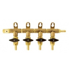MoreBeer Gas CO2 Manifold 4 Way D1810