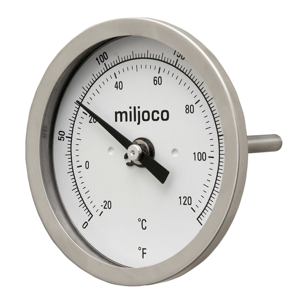 "Miljoco 2.5"" Stubby NPT Thermometer for BIAB"
