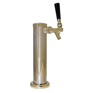 "2-1/2"" Column Tower - Chrome Plated - Air Cooled - 1 Faucet"