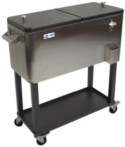 TRINITY THL-0802 Stainless Steel Cooler with Shelf