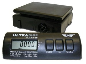 UltraShip 55 lb. Digital Postal Shipping & Kitchen Scale Grain Homebrewing