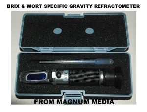 Beer Wort & Wine Refractometer, Dual Scale - Specific Gravity and Brix ,Advanced Optics, Replaces Homebrew Hydrometer, presented by Magnum Media