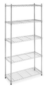 Whitmor 6060-267 Supreme 5-Tier Shelves, Chrome