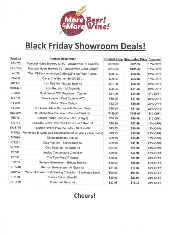 Black Friday MoreBeer Deals