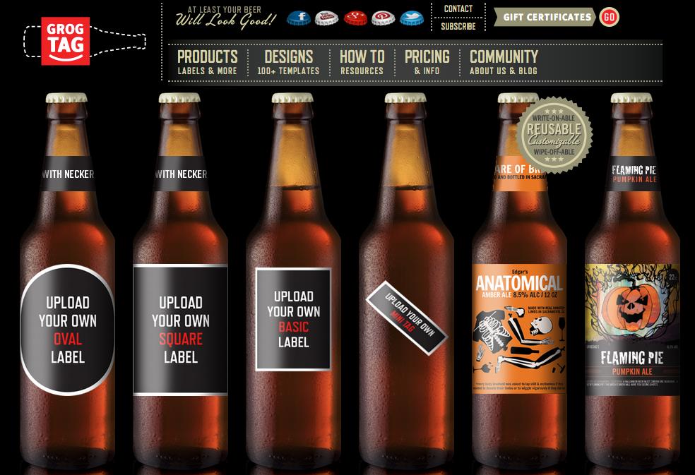 GrogTag 12 Pack Beer Labels