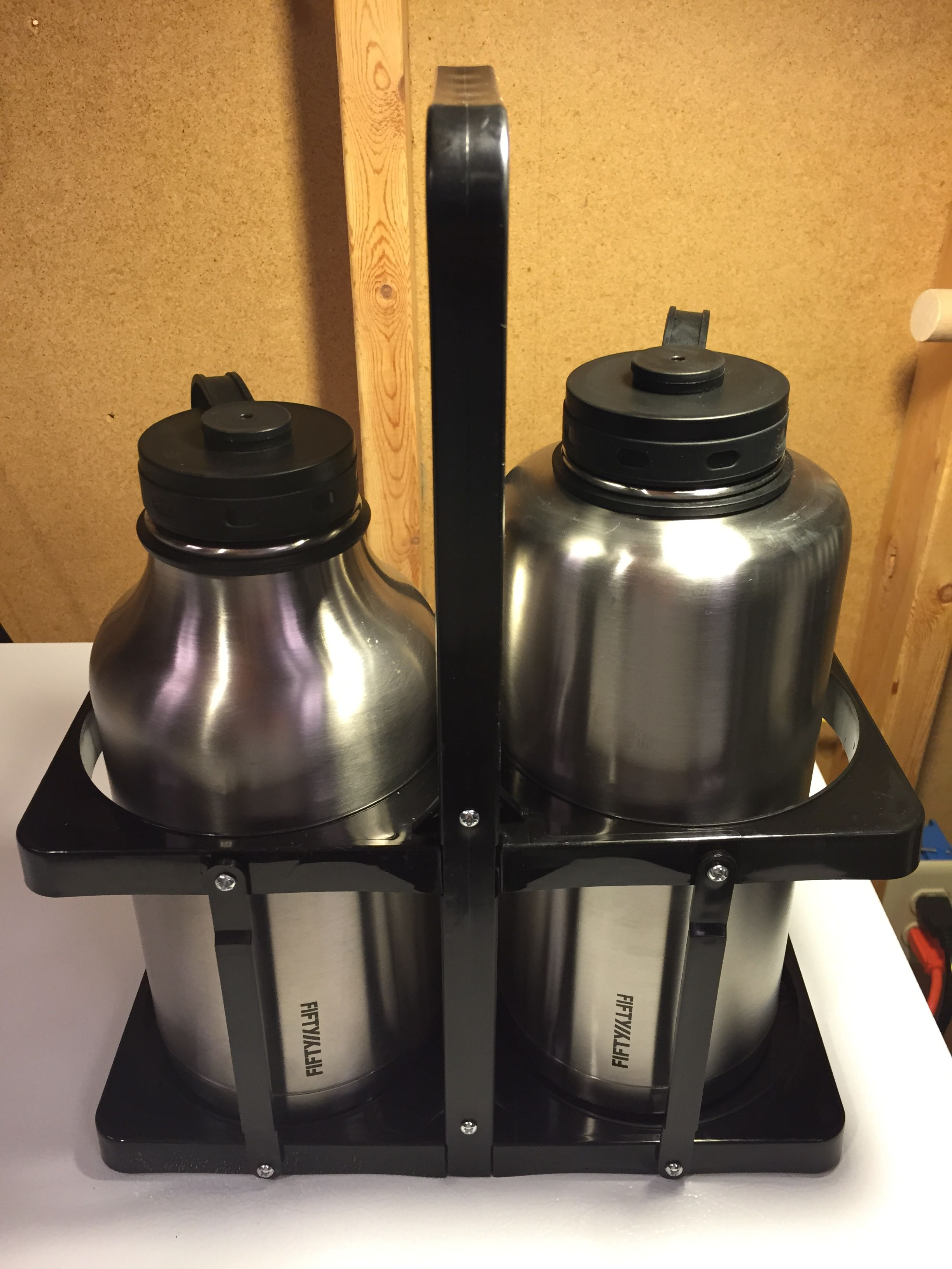 stainless growler carrier
