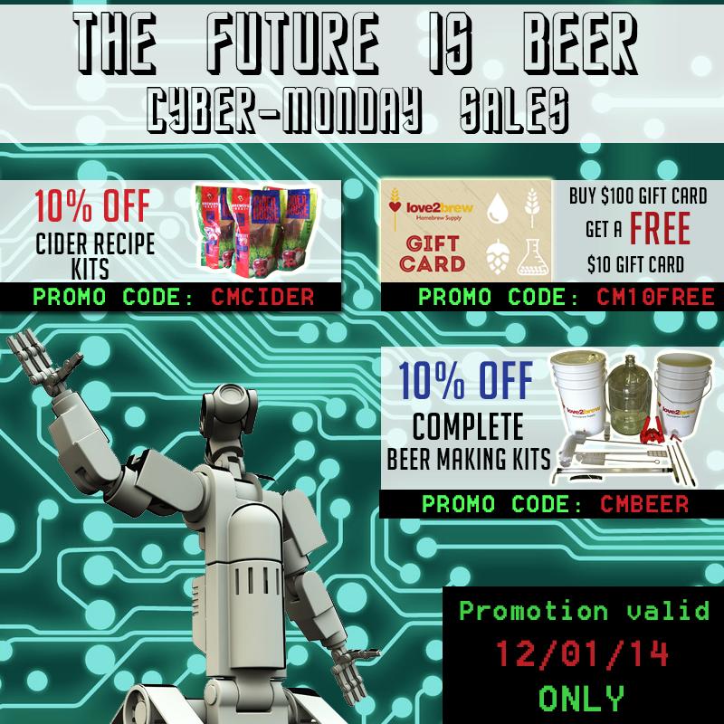 Love2Brew Cyber Monday Sale