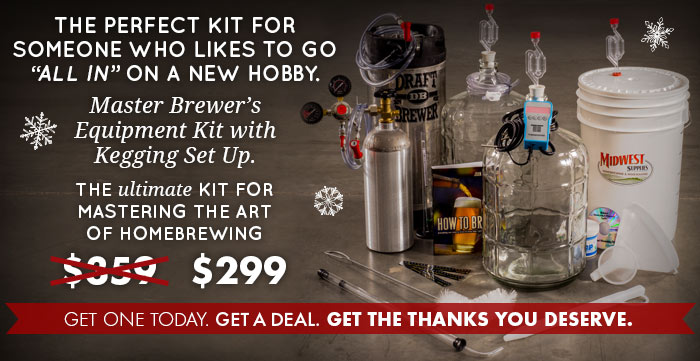 Master Brewer's Equipment Kit with Kegging Setup