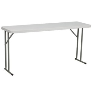 FlashFurniture RB-1860-GG 18 by 60-Inch Granite White Plastic Folding Training Table