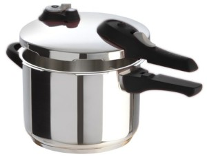 T-fal P2510737 Stainless Steel Dishwasher Safe PFOA Free Pressure Cooker Cookware, Silver