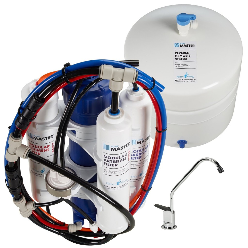 Home Master TMAFC Artesian Full Contact Undersink Reverse Osmosis System, White