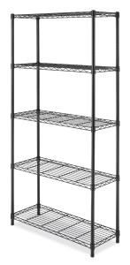 Whitmor 6070-5264 Supreme 5-Tier Shelving Unit, Black
