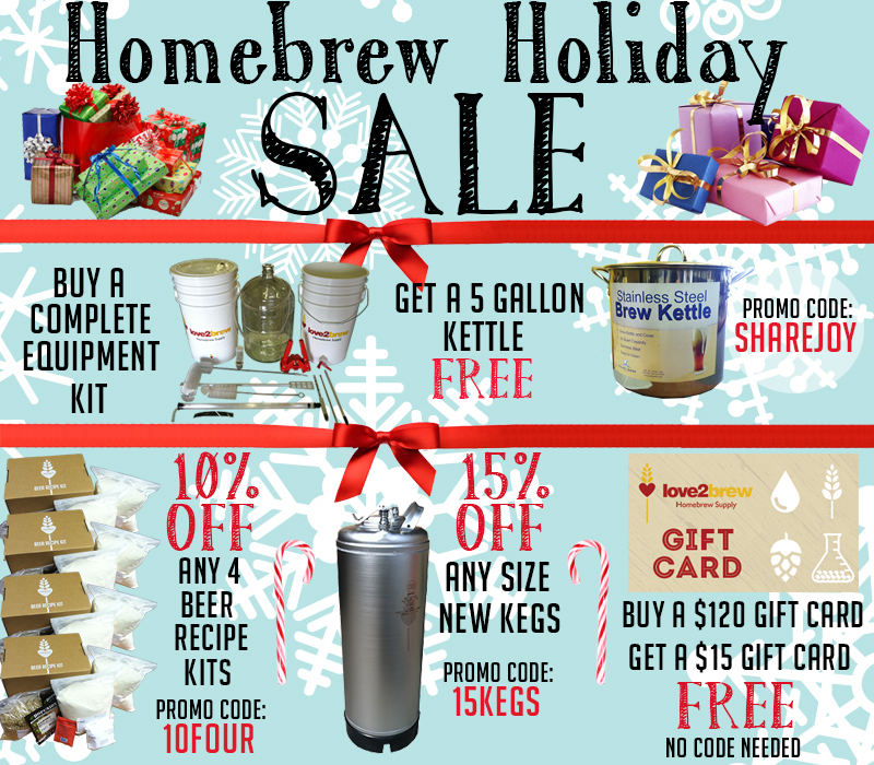 love2brew holiday sale