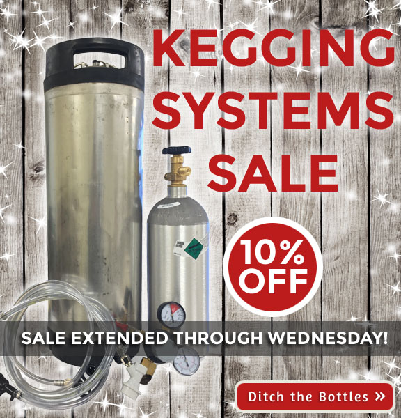 Homebrew kegging sale