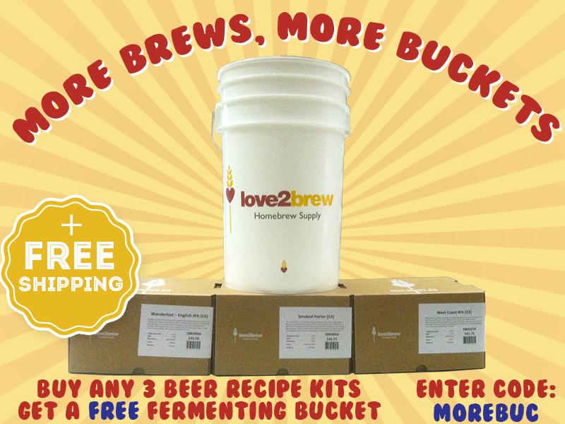 love2brew free fermenting bucket