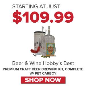 Saga premium craft beer kit