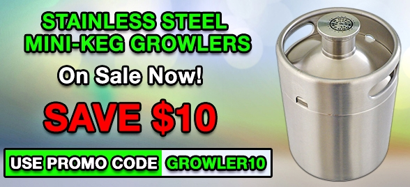 Stainless Mini Growlers at MoreBeer