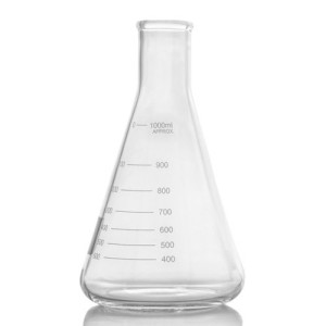 2000ml / 2L Narrow Mouth Erlenmeyer Flask with Heavy Duty Rim
