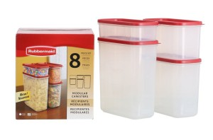 Rubbermaid 1776474 8-Pc. Modular Canisters Food System