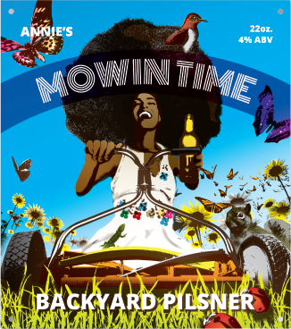 Mowin Time Beer Label