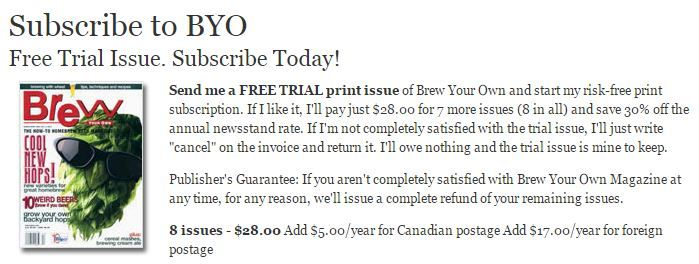 Subscribe to BYO Brew Your Own Magazine Free Trial Discount