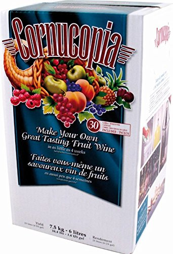 Cornucopia Fruit Wine Making Kit, Red Black Cherry Merlot, 1.6 Gallons