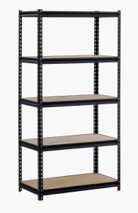 "Edsal URWM185BLK Black Steel Storage Rack, 5 Adjustable Shelves, 4000 lb. Capacity, 72"" Height x 36"" Width x 18"" Depth"