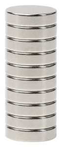 BYKES 10 Neodymium Super Strong Extremly Powerful Rare Earth Refrigerator Magnets 1/2 x 1/8 Inch Disc N48