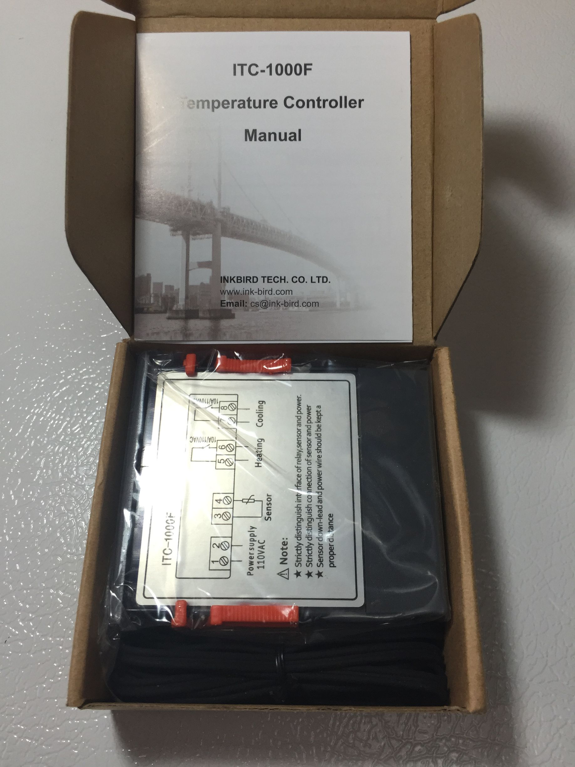 First Looks: ITC 1000 Temperature Controller   PDF Manuals Homebrew  #654C3B