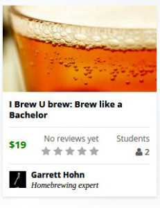 Brew Like a Bachelor Udemy