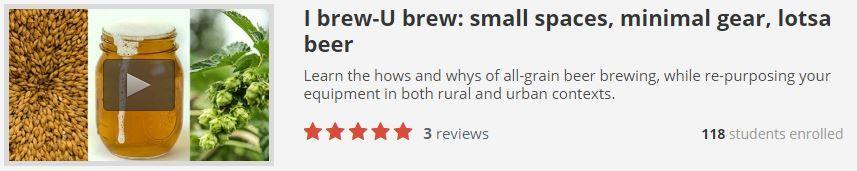 I brew-U brew: small spaces, minimal gear, lotsa beer