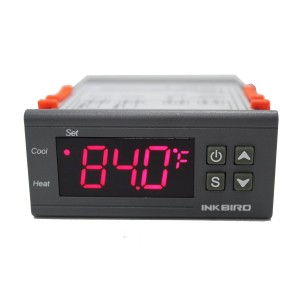 Inkbird 110V All-Purpose Digital Temperature Controller Fahrenheit & Centigrade Thermostat + 2 Relays