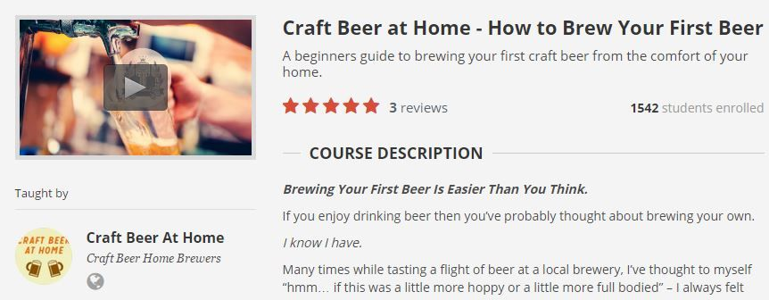 craft beer at home udemy