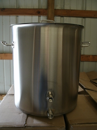 Two Weld 15 Gallon Stainless Steel Pot W/Dents