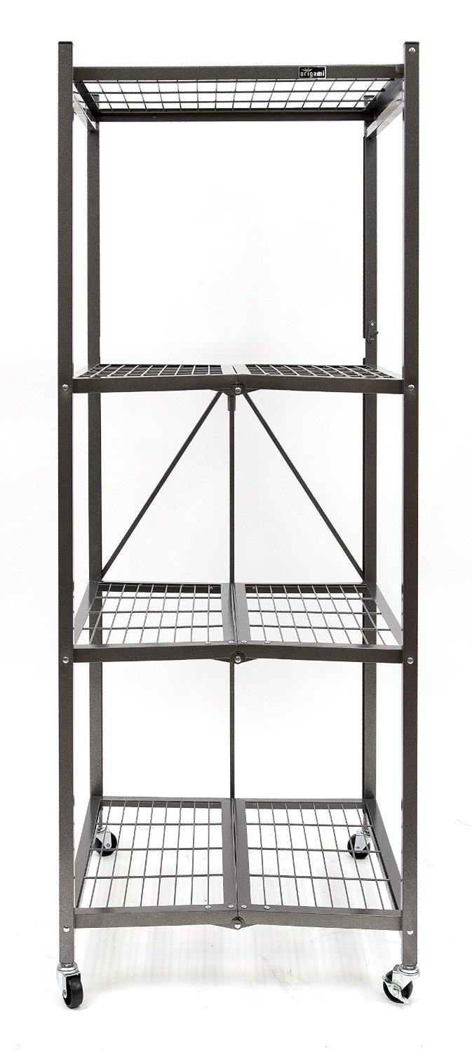 Origami R5S-PEWTER Heavy Duty Square Rack, Pewter