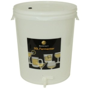 "841219 - 8 Gallon Fermenter with drilled lid and 3/8"" spigot"