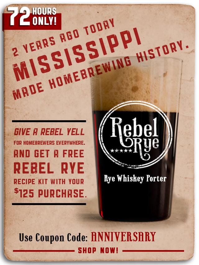 Free Rebel Rye Homebrew Kit