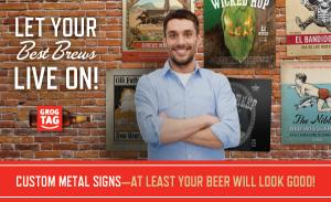 Custom Metal Bar Signs